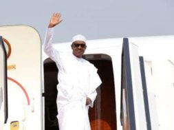 Buhari-departs-for-Egypt-2